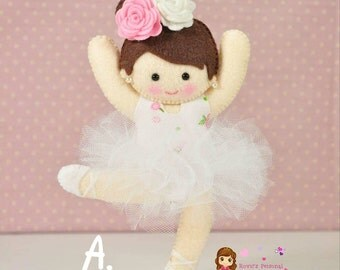 Customized Ballerina Princess - Felt Plush