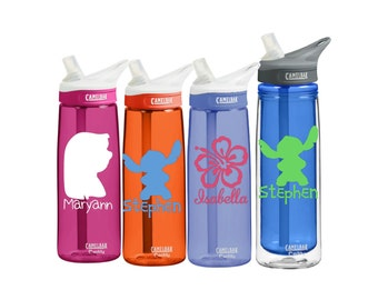 Lilo & Stitch Monogram Personalized CamelBak 0.75 L Eddy or 0.6 L Insulated Personalized Monogram States Water Bottle Sports bottles