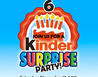 Kinder Suprise Birthday Invitation