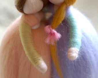 Girlfriends, sisters, wool fairy tale, Waldorf inspiration