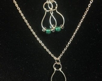 earrings and necklace set