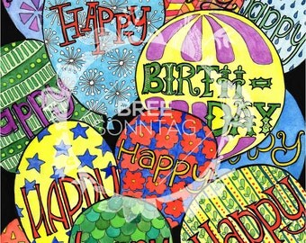 Birthday Balloon Stationery