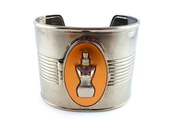 """JEAN PAUL GAULTIER * Gorgeous vintage tin can bracelet """"Classique"""""""