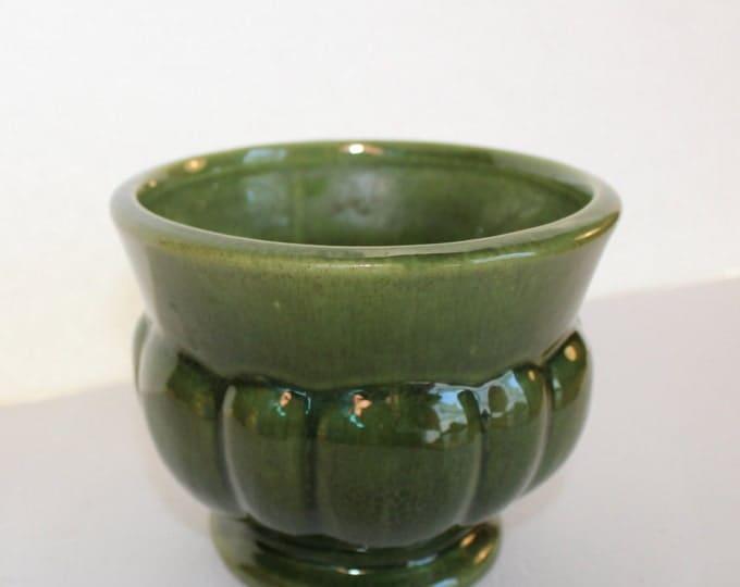 Vintage Haeger Round Green Planter, Pot, Succulent Planter, Indoor Planter