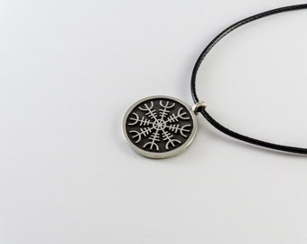 925 Sterling Silver Aegishjalmur Pendant
