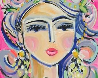 Abstract Portrait PRINT, woman portrait