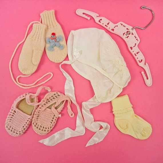 Vintage Mid Century Baby Girls Clothes and Accessories Lot