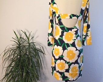 Vintage 60s Flower Power Dress // Warhol Print // Baby Doll // Shift Dress