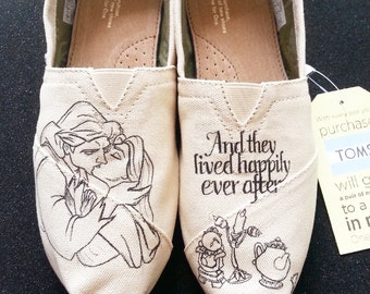 Disney Beauty and the Beast Happily Ever After Wedding Custom Made Shoes