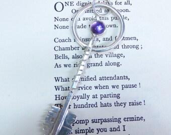 Romantic Amethyst Key Pendant