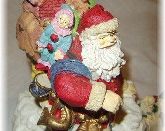 Santa on the Rooftop Music Box