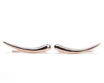 Rose Gold Plated Ear Cuff Moon Shine Ear wrap Pin Earrings Boho Jewelry - FES007