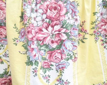 SALE Vintage floral stripe valance 54 x 14