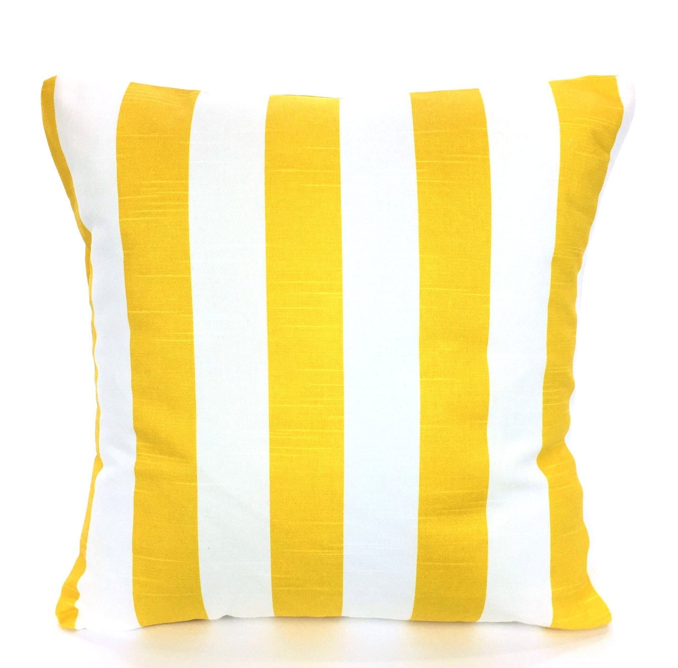 Yellow Striped Throw Pillows : Yellow Stripe Pillow Covers Nautical Throw Pillow Cushions
