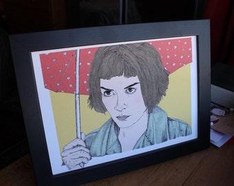 Amelie Film Audrey Tautou Art Print