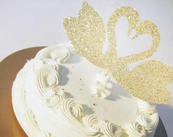 Love Swans Cake Topper // Wedding Shower // Bridal Shower