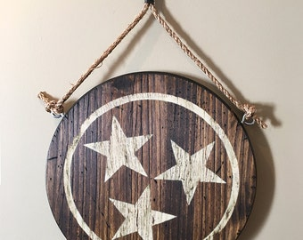 Tennessee Tri-Stars Wall Hanging - White