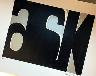 Ask Print Black/Silver (unframed)
