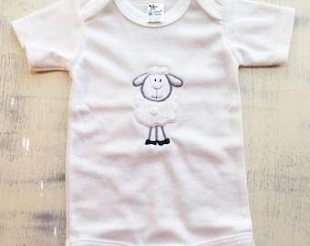 Baby lamb short sleeve or long sleeve onesie