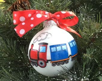 Personalized Train Christmas Ornament