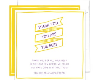 Thank You, You Are The Best / Digital Thank You Card / Custom Thank You Card