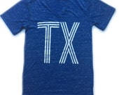 adult TX v-neck tee