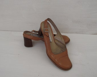 Vintage Womens Shoes- Sandals- Leather- Size 37.5 Euro