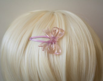 Pale Pink Lolita Bow Hair Clips