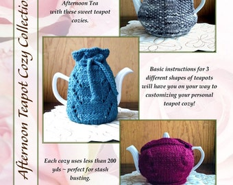 Afternoon Teapot Cozy Collection PDF Knitting Pattern