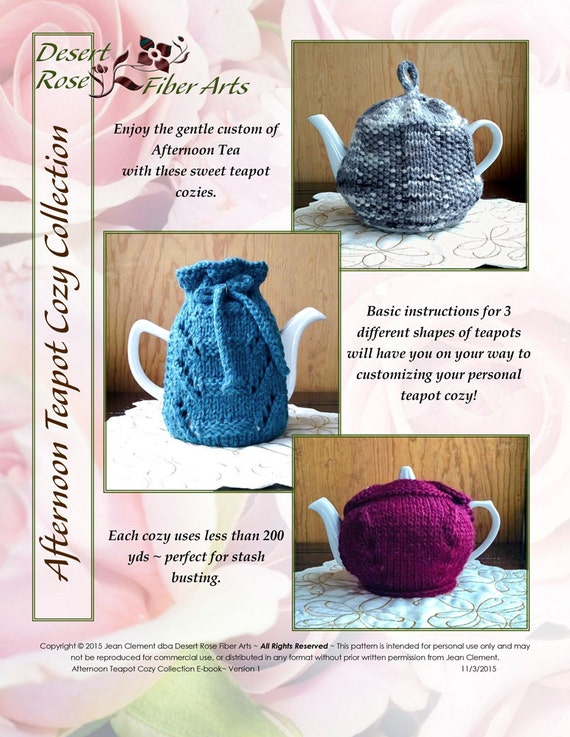 Afternoon Teapot Cozy Collection Knitting Pattern From