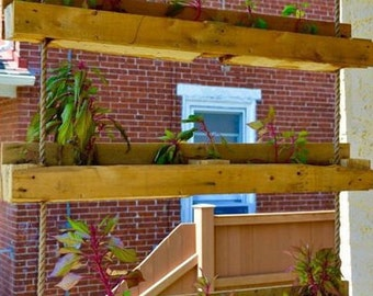 Planter,hanging pallet planter,box planters, outdoor/indoor planter, privacy planters,garden planter, rustic planter, hanging garden