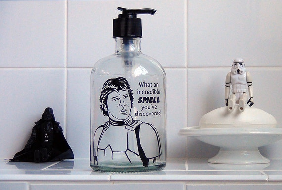 Han Solo Glass Soap Dispenser Star Wars By Clearstoryglass