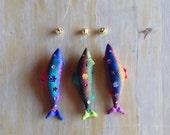 Sparkly Fish Ornaments! - Set of Three