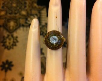 Cute little brown button ring