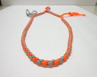 Custom Duck/Goose/Waterfowl/Predator Call Lanyard Neon Orange and Silver