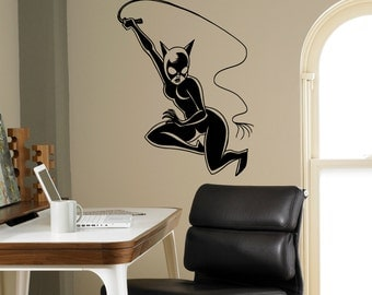Catwoman Wall Decal Etsy - Custom vinyl wall decals cats