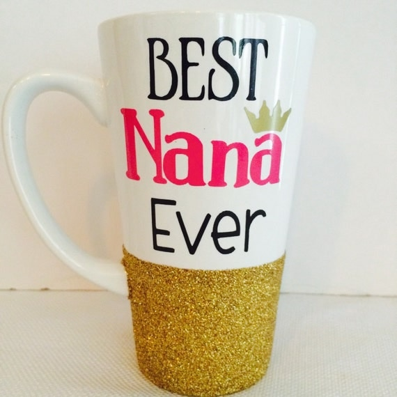 Best grandma ever glitter coffee cup for Best coffee cup ever