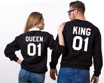 King Queen Hoodie, King Queen hoodies, Sweatshirts, Set of two, UNISEX