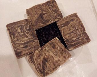Coffee Soap made with Organic Oils and Organic Coffee