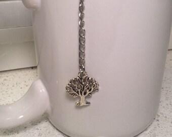 Tree Tea Mesh Ball Infuser ~ Loose Leaf Tea Infuser ~ Silver Tree Tea Steeper ~ Cute Tea Infuser ~ Tree of Life Tea Infuser