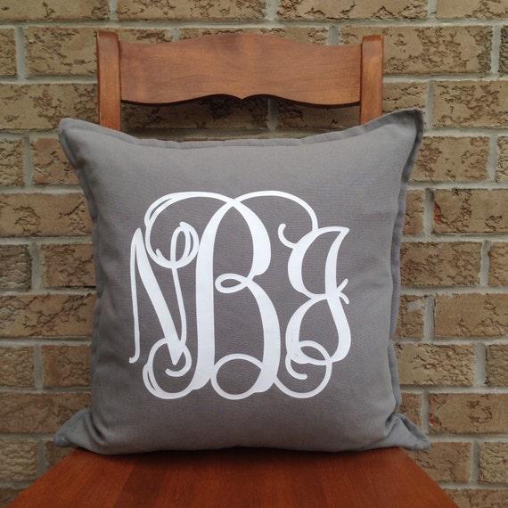 Decorative Monogram Pillows : Monogram Pillow Personalized Pillow Decorative by PMWBoutique