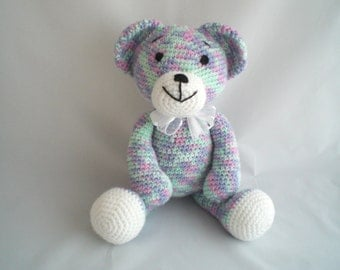 Crochet Teddy Bear / Amigurumi Teddy Bear / Crochet Plush Bear / Plush Teddy / Hand Made, larger size, Ultra soft and cuddly  soft toy.