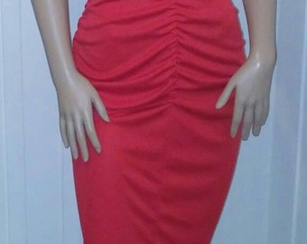 Ruched Keyhole Dress