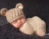 Sale Baby Boy Hat, Baby Bear Hat, Baby Hat, Newborn Bear Hat, Crochet Bear Hat, Coming Home Hat, Baby Shower Gift, Newborn Photo Prop