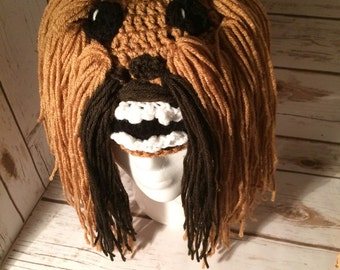 Star Wars Chewbacca Crochet Beanie - made to order - all sizes