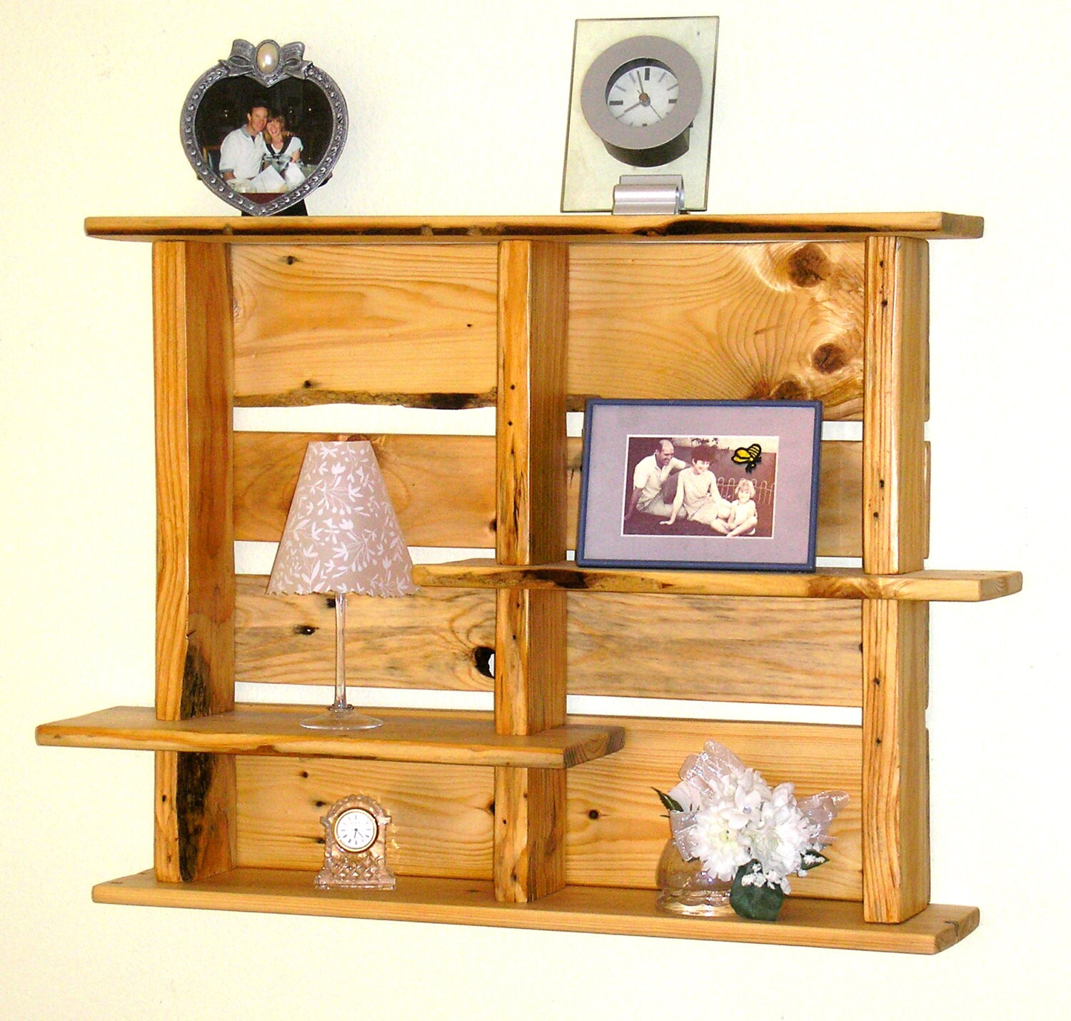 Wall Art With Pallets: Repurposed Pallet Wood Wall Shelf Pallet Wood Wall Decor