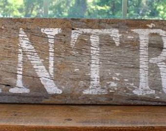 Authentic Barnwood Sign - Pantry