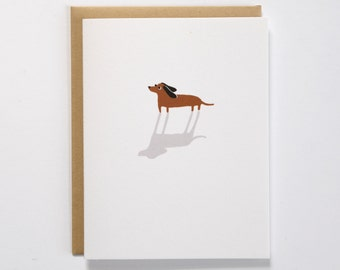 Dachshund Encouragement Card