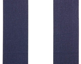 """Premier Prints Canopy 3"""" wide alternating stripes Navy and White"""