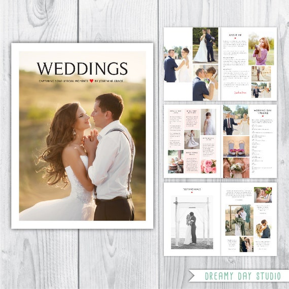 wedding brochure template - wedding photography magazine template wedding pricing